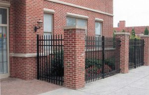 wrought iron perimeter fences